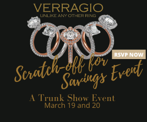 Verragio Scratch-off For Savings Event at Adlers Jewelers