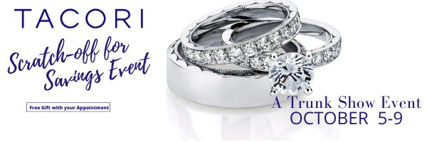 Tacori and Verragio Trunk Shows Only at Adlers Jewelers